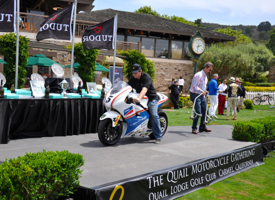 Richard on bike @ the Quail Motorcycle Gathering