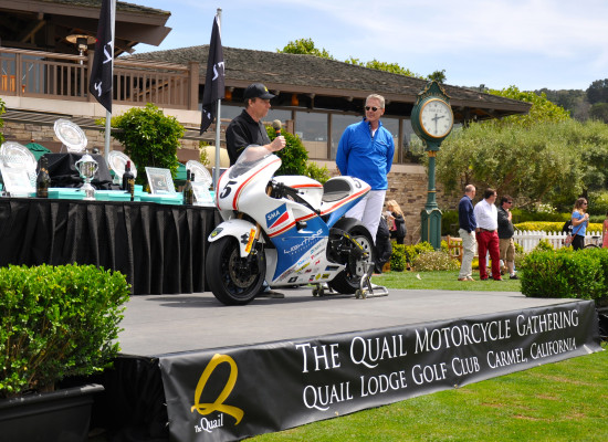 Richard speaking @ the Quail Motorcycle Gathering