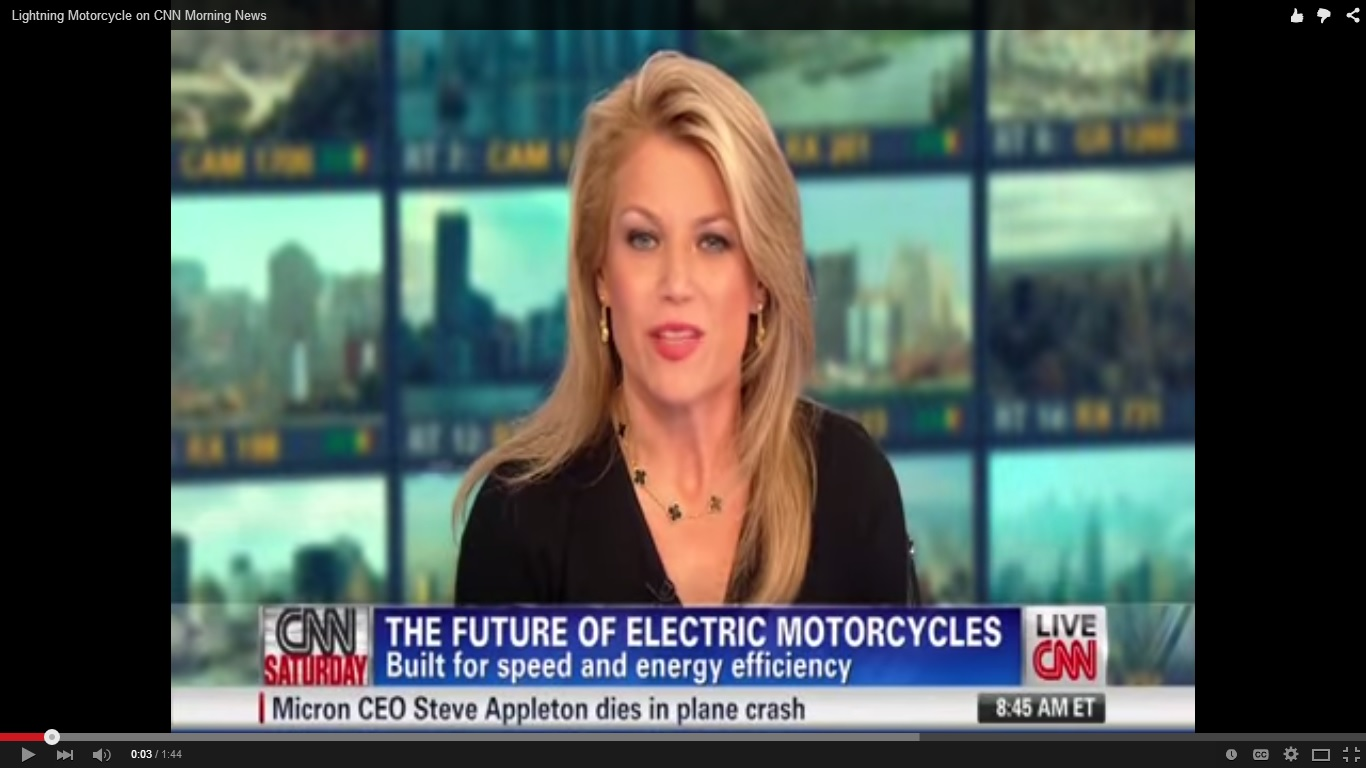 Lightning Motorcycles on CNN Morning News